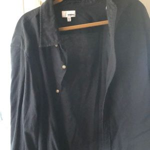Sonoma black XL button up shirt. Long sleeve
